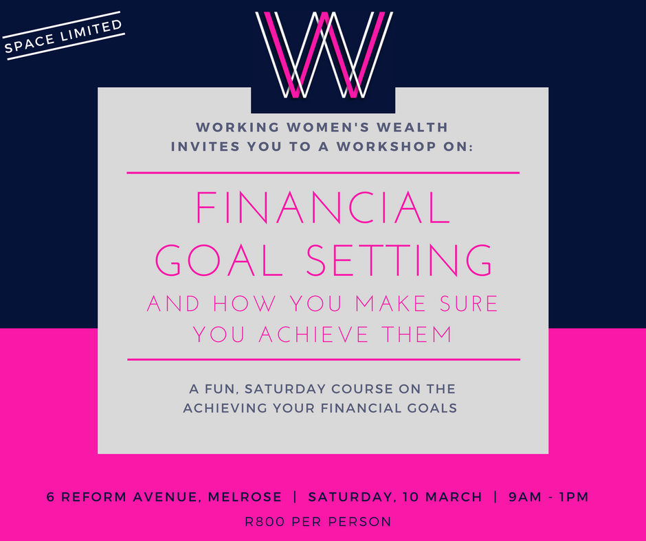 Attend our Reaching Your Financial Goals workshop